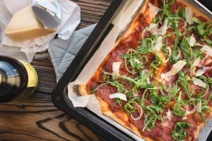 Squared pizza